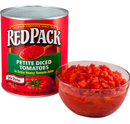 Petite Diced Tomatoes in Extra Heavy Juice